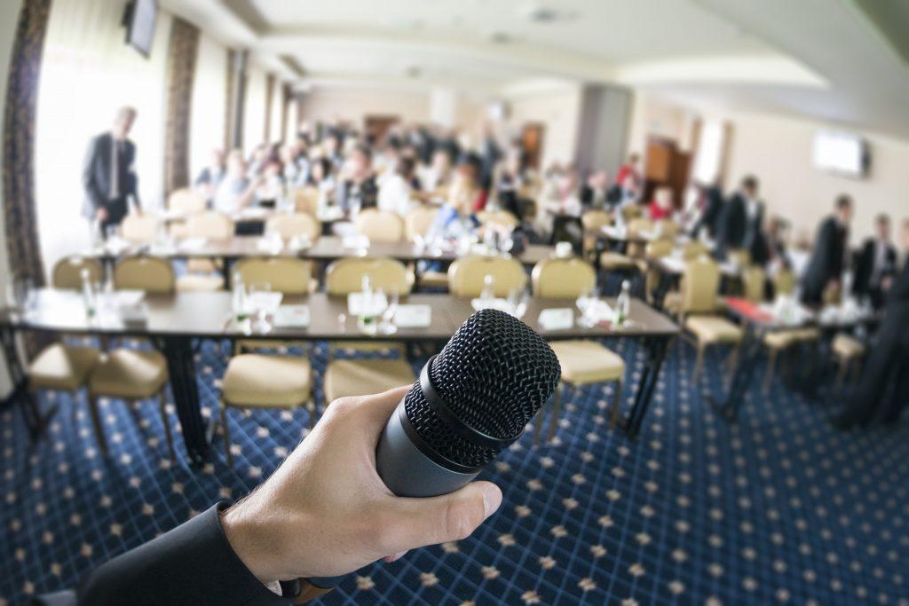 Tech conference speaker