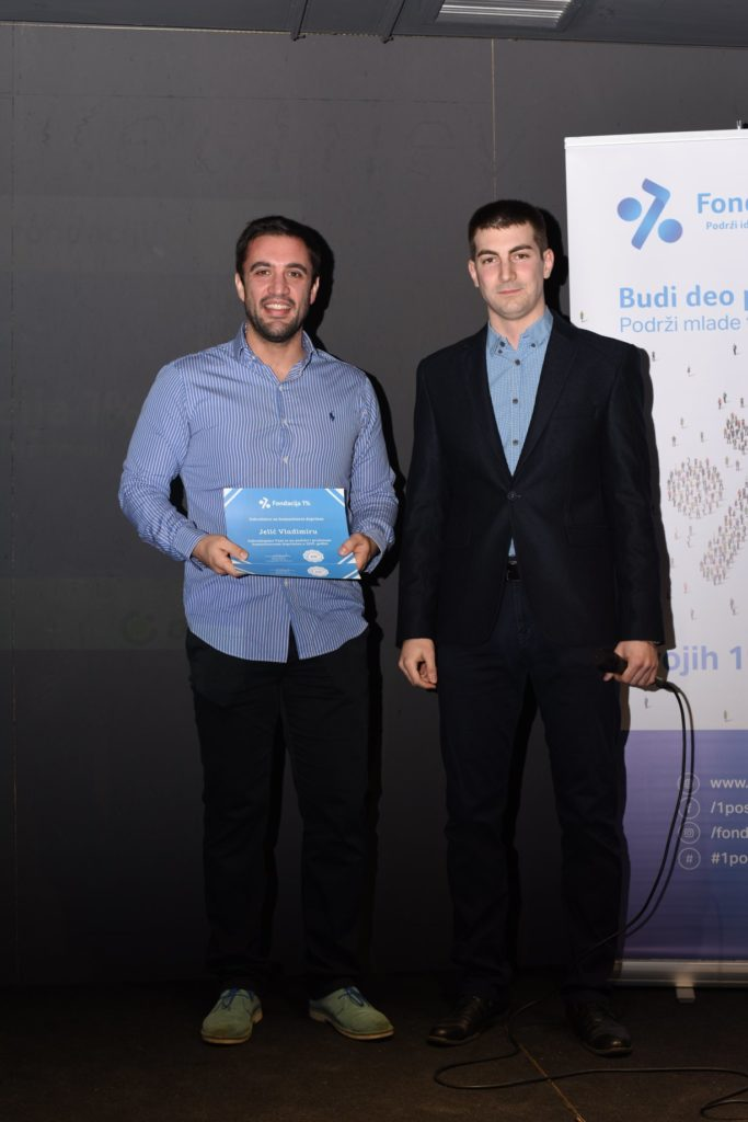 Vladimir Jelic with Milos Pesic founder of Foundation 1%