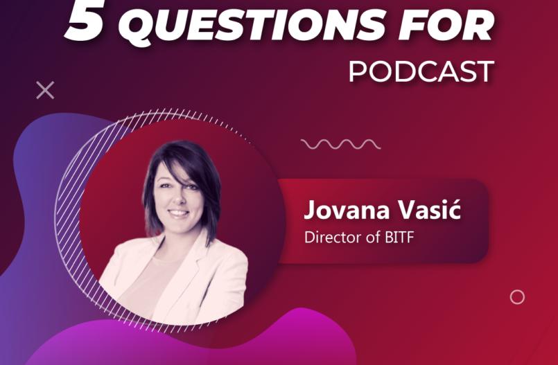 5 questions for... Jovana Vasic