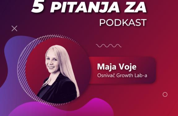 """Maja Voje na podcastu """"5 pitanja za..."""""""