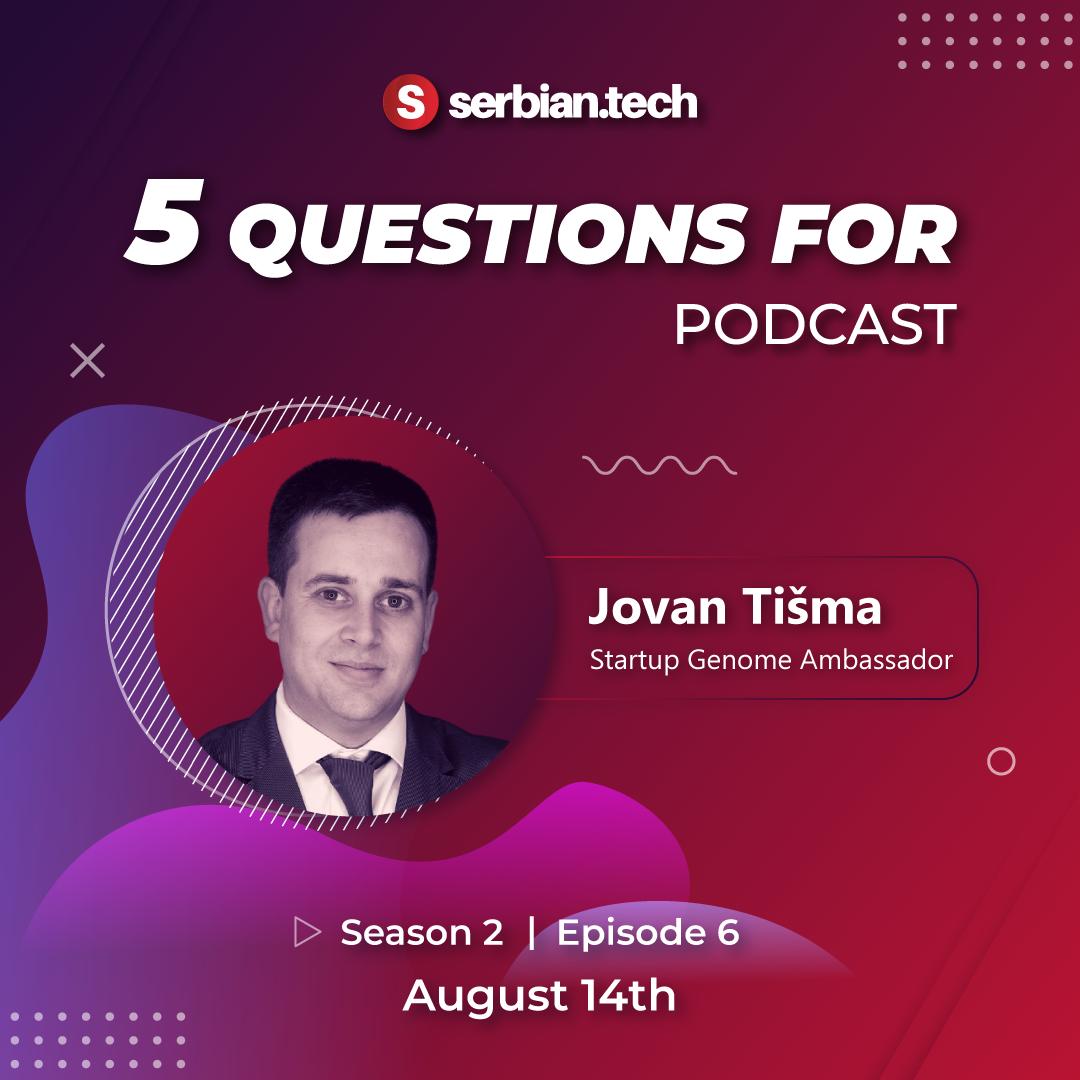 5 questions for... Jovan Tisma