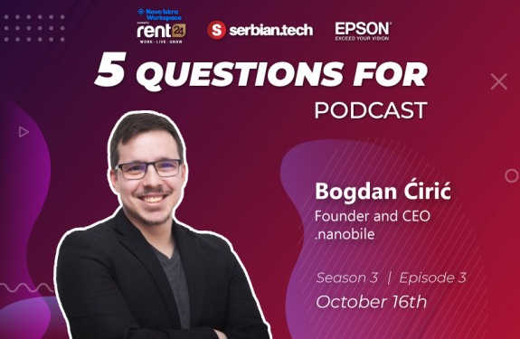 "Bogdan Ciric on ""5 questions for"" podcast"