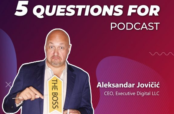 Aleksandar Jovicic on 5 questions for podcast