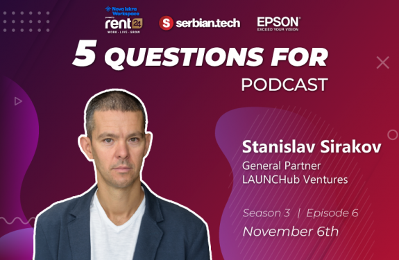 "Stanislav Sirakov on ""5 questions for..."" podcast featured"