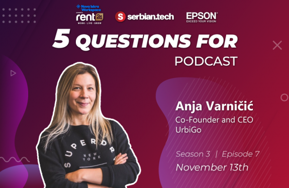 "Anja Varnicic featuring on ""5 questions for..."" podcast"