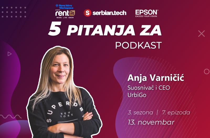 "Anja Varničić na ""5 pitanja za..."" naslovna"