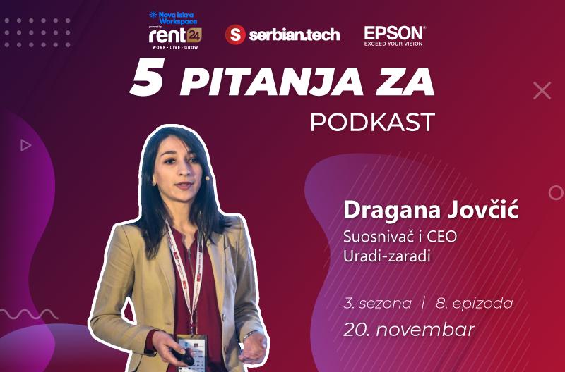 """""""5 pitanja za..."""" podkast sa Draganom Jovčić"""