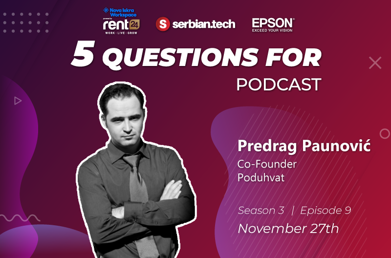 """5 questions for..."" Predrag Paunovic featured"