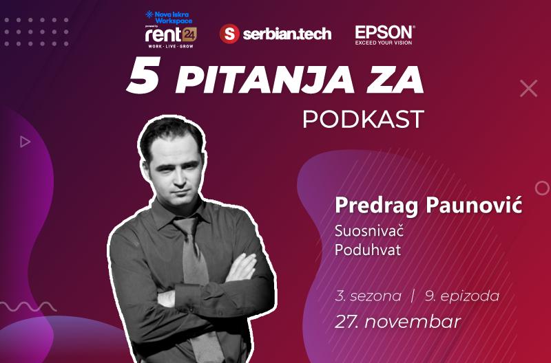 """Predrag Paunović na """"5 pitanja za..."""" srb"""
