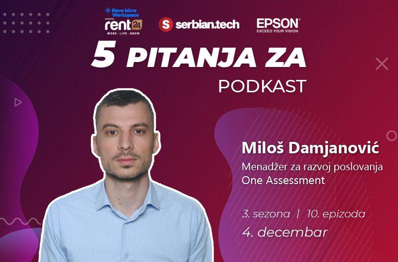 """""""5 pitanja za..."""" Miloš Damjanović naslovna"""