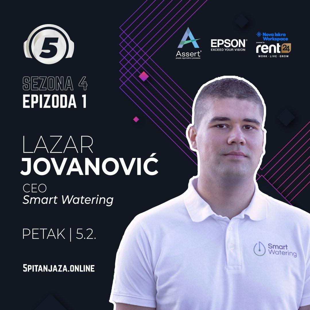5 pitanja za Lazara Jovanovića