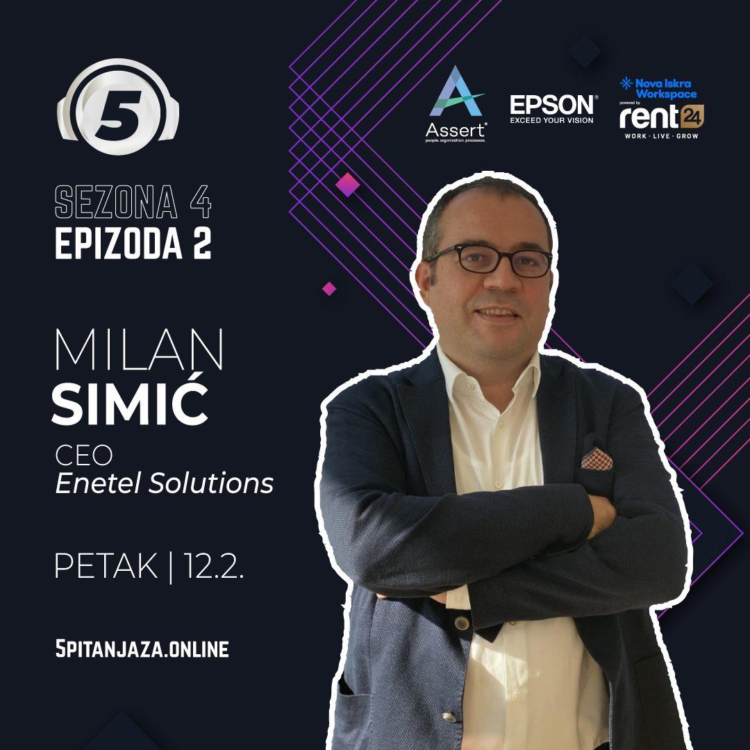 """5 pitanja za..."" Milana Simića, direktora Enetel Solutions"