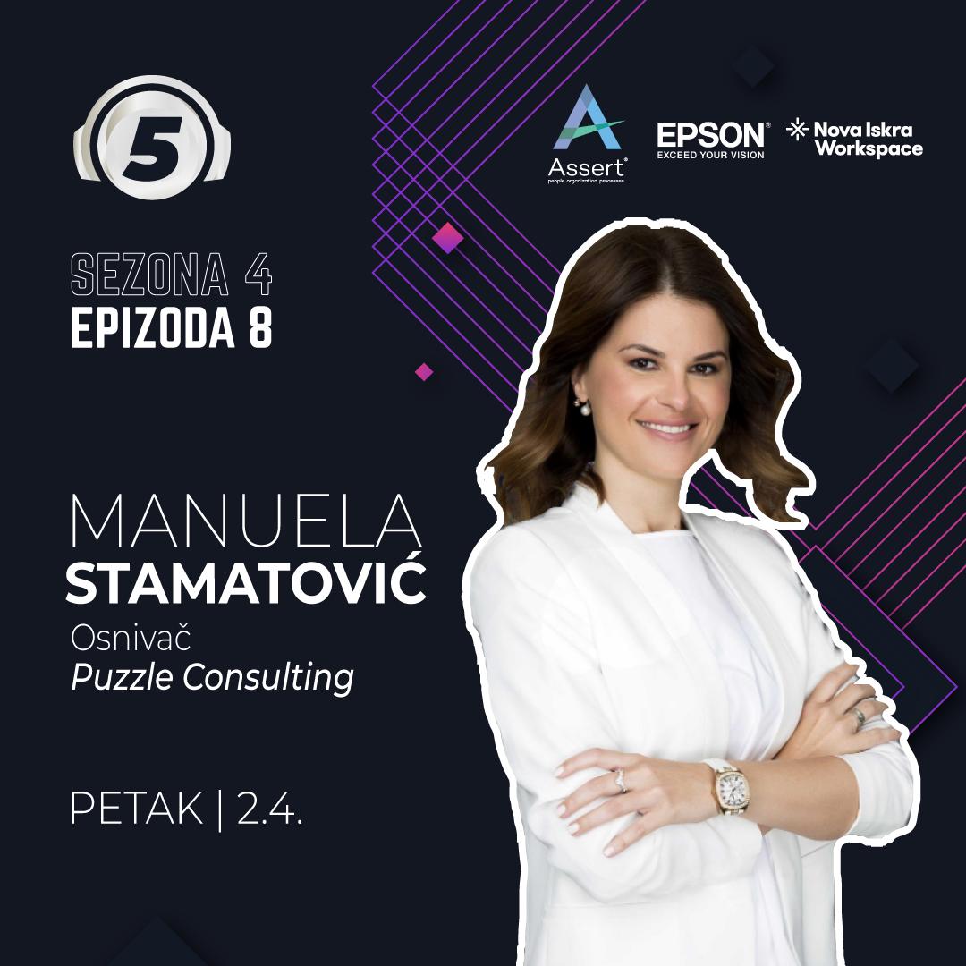 Manuela Stamatovic na podcastu 5 pitanja za