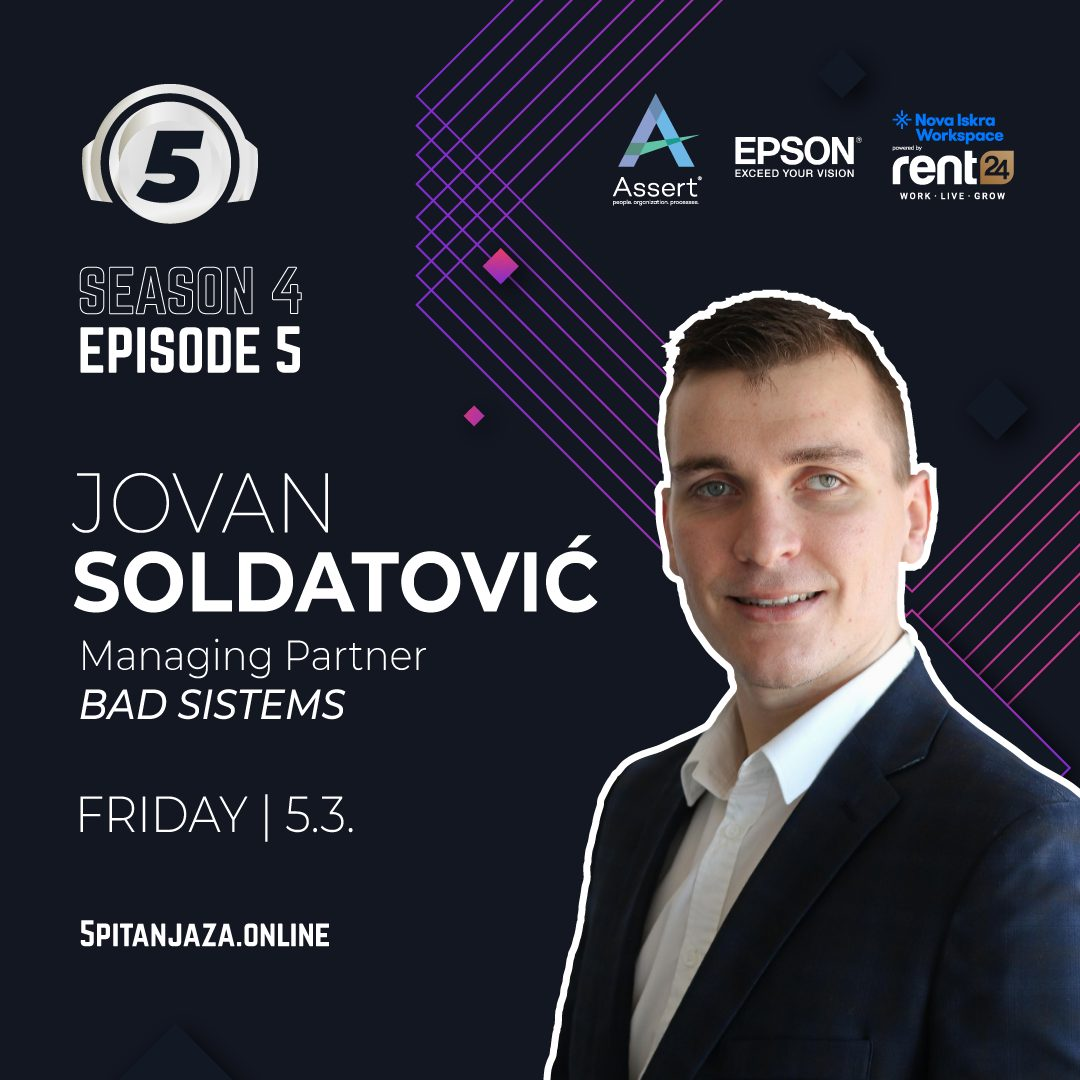 5 questions for... Jovan Soldatovic
