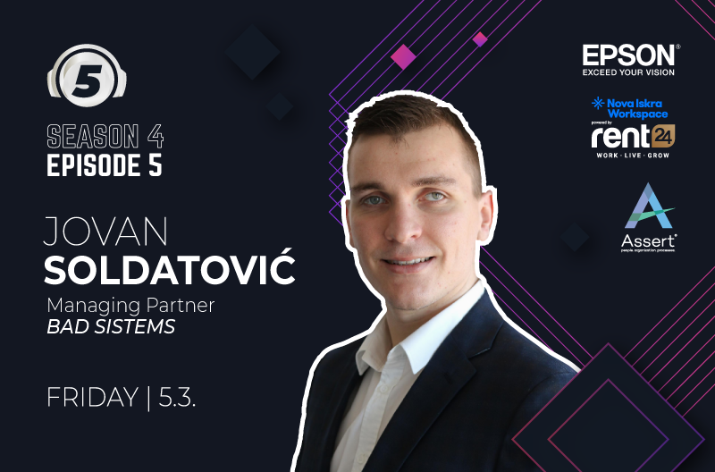 """Podcast """"5 questions for..."""" with Jovan Soldatovic"""