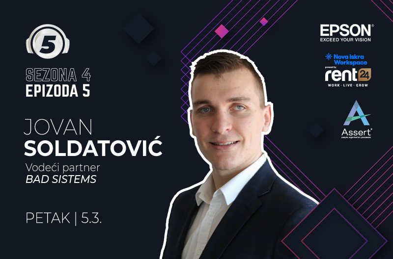 "Podkast ""5 pitanja za..."" sa Jovanom Soldatovicem"