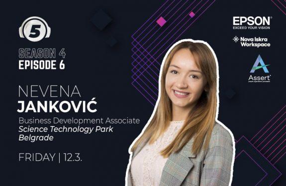 """Nevena Jankovic guest on """"5 pitanja za..."""" podcast"""