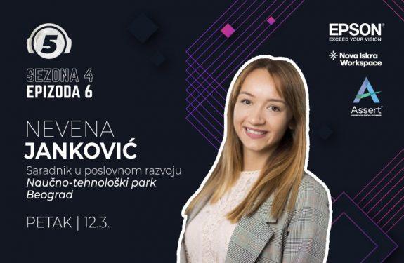"""Nevena Janković na podkastu """"5 pitanja za..."""""""