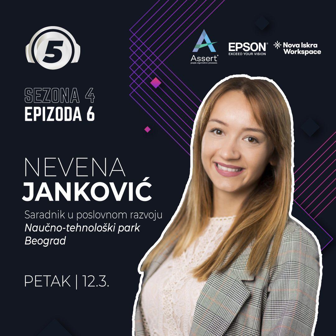 """Nevena Jankovic on podcast """"5 pitanja za..."""""""