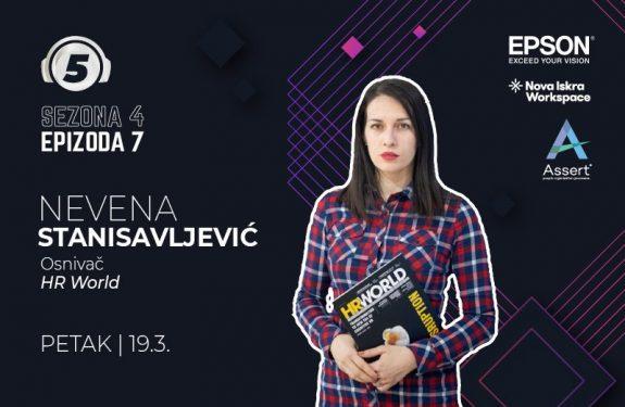 """Nevena Stanisavljević na podcastu """"5 pitanja za..."""""""