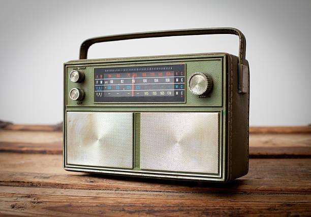 Green vintage radio