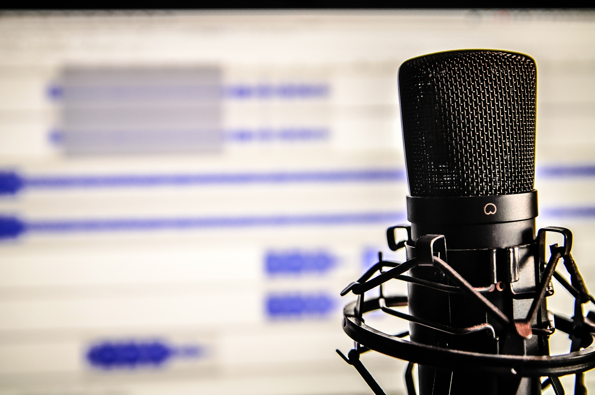 Podcast mic and monitor