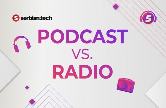 Podcast vs radio featured artwork
