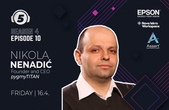 """Nikola Nenadic on podcast """"5 pitanja za..."""""""